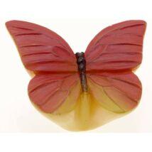 Gomb fogantyú - Lepke, piros színű