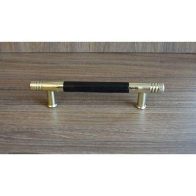 Fogantyú, arany-fekete színű, lyuktáv:96 mm