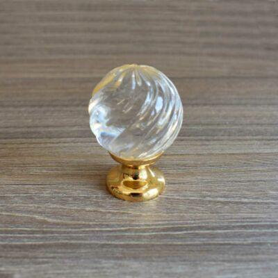 Gomb, üveg-arany színű