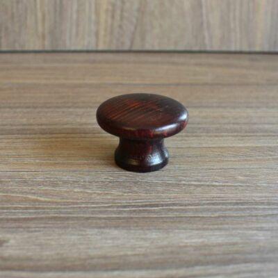 Gomb, mahagóni színű