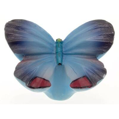 Gomb fogantyú - Lepke, kék színű