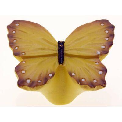 Gomb fogantyú - Lepke, sárga színű