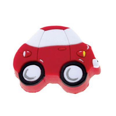 Gomb fogantyú - Autó, piros színű