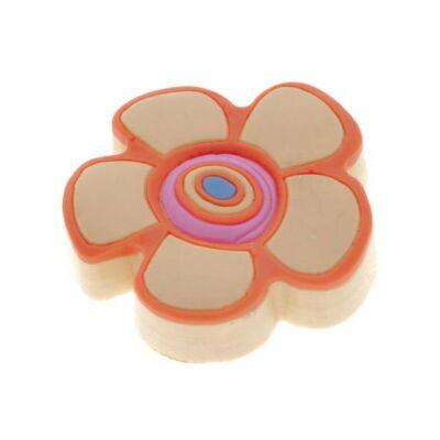 Gomb fogantyú - Virág, sárga színű