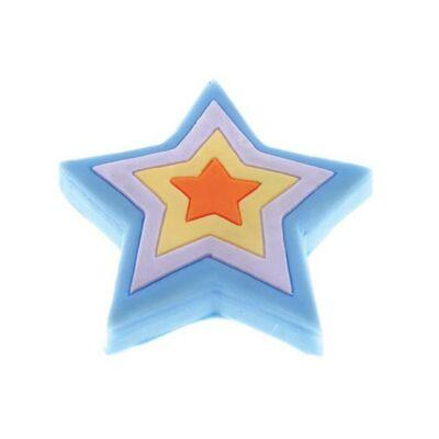 Gomb fogantyú - Csillag, sokszínű színű