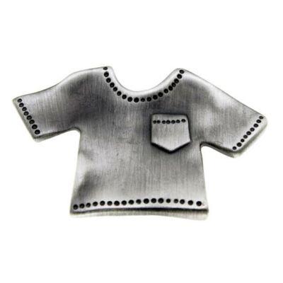 Gomb fogantyú - Póló, antikolt ezüst színű