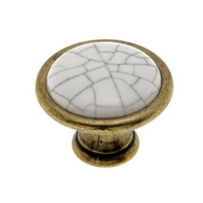 Fogantyú, antikolt bronz-tört fehér színű