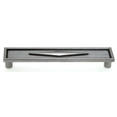 Fogantyú, antikolt ezüst színű, lyuktáv:128 mm