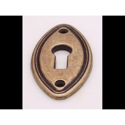 Kulcscímke, antikolt bronz színű