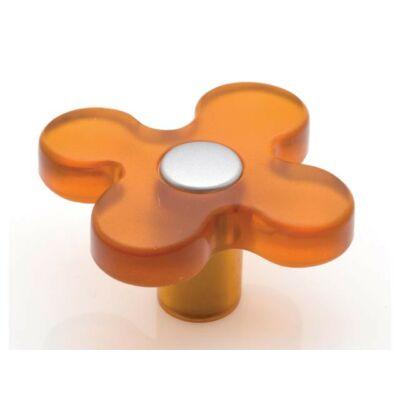 Fogantyú, narancs-matt króm színű