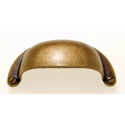 Fogantyú, antikolt bronz színű, lyuktáv:64 mm