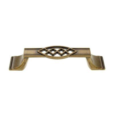 Fogantyú, antikolt bronz színű, lyuktáv:96 mm